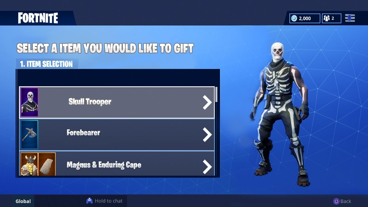 How To Gift Skins In Fortnite Fortnite Gifting System Youtube