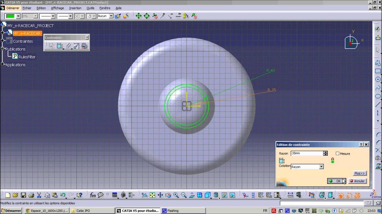 Tutoriel pour créer une soucoupe volante sur Catia V5.