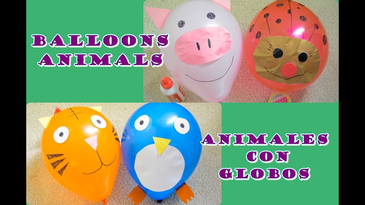 manualidades infantiles animales con globos crafts for