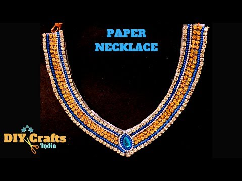 DIY Canvas Paper Necklace for Kids | Paper Maala | DIYCrafts India #37