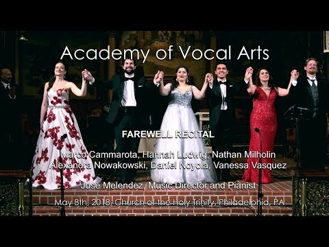 Academy of Vocal Arts - Farewell Recital 2018