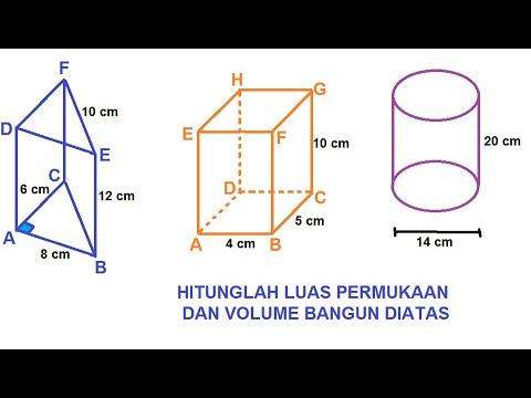 Luas Permukaan Dan Volume Prisma Youtube