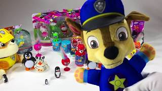 Surprise Toys Find Peppa Pig Chase Paw Patrol Rubble Rocky and Zuma YouTube kids funny Toy Video!