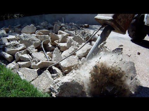 Breaking Concrete - Driveway Demolition
