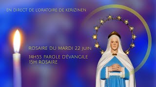 Rosaire du mardi 22 juin, replay