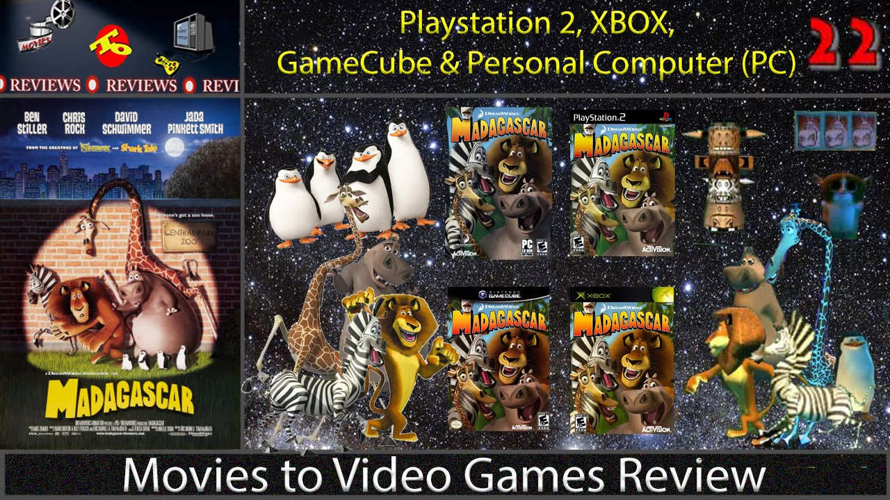 Movies To Video Game Review Madagascar Pc Gc Ps2 Xbox Youtube