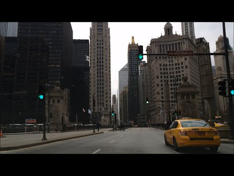 Morning Drive - The Magnificent Mile on Michigan Ave – Chicago Illinois