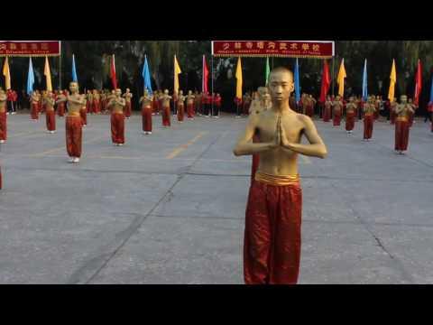 Kungfu performance at WuShu festival DengFeng China