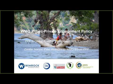 Webinar: African demand for weather and climate services