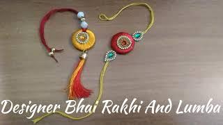 DIY | Designer Bhai Rakhi And Lumba | Silk Thread Rakhi | Decorative Rakhi And Lumba