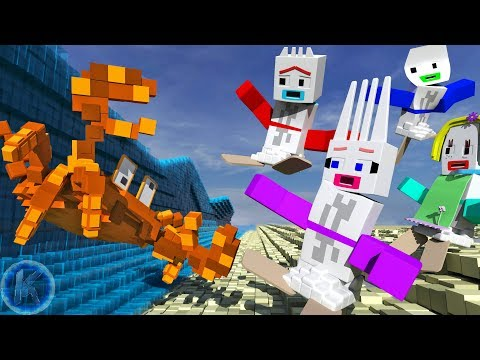 Toy Story 4 Introducing Forkalina At The Beach Minecraft Animation