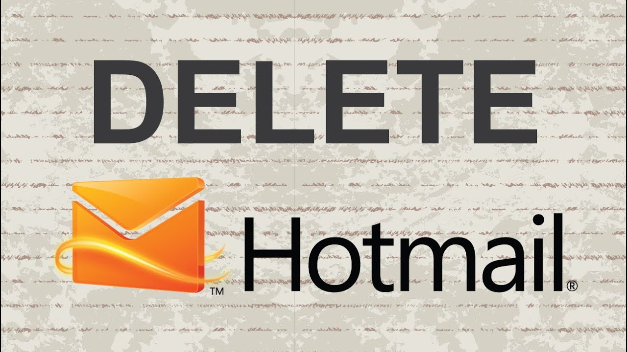 how to hotmail account delete