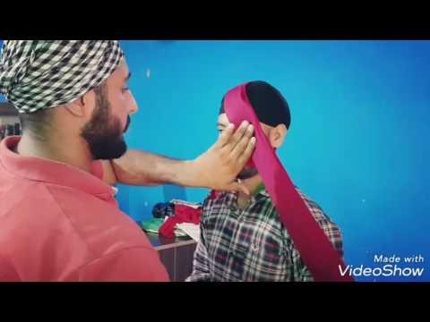 PATIALA SHAHI PAGG TIE BY HARWINDER SINGH SULTANPUR LODHI