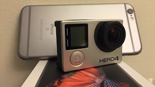 GoPro Hero 4 Black vs iPhone 6s 4K