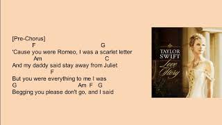 love-story-taylor-swift-chords-and