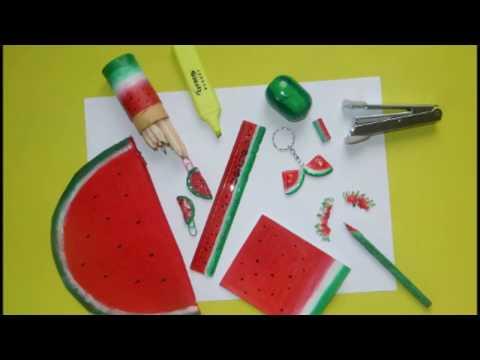 10 DIY Watermelon school supplies for back to school