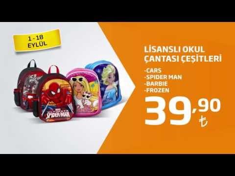 7a73094461e2f Lisanslı Okul Çantası Çeşitleri 39,90 TL Fiyatıyla Migros'ta! - YouTube