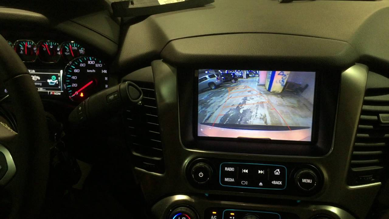 Car video interface with HDMI input and bird view camera ...
