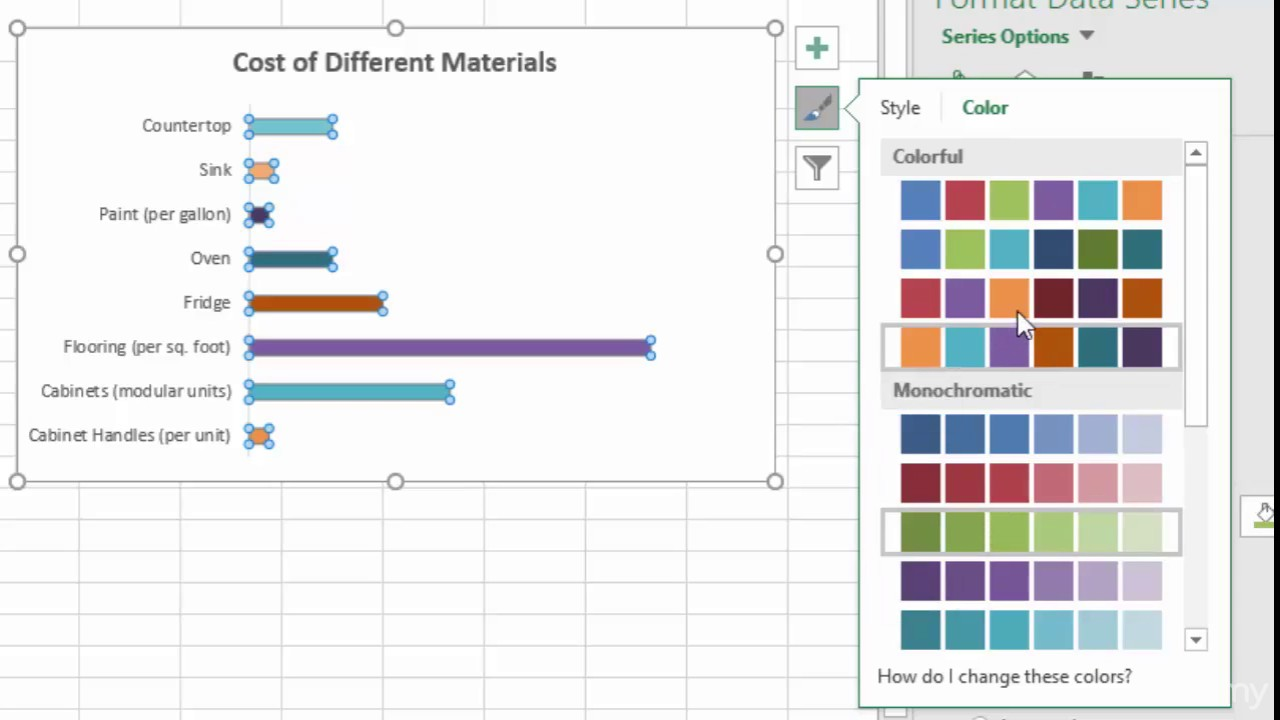 how to make a bar chart in excel 2016