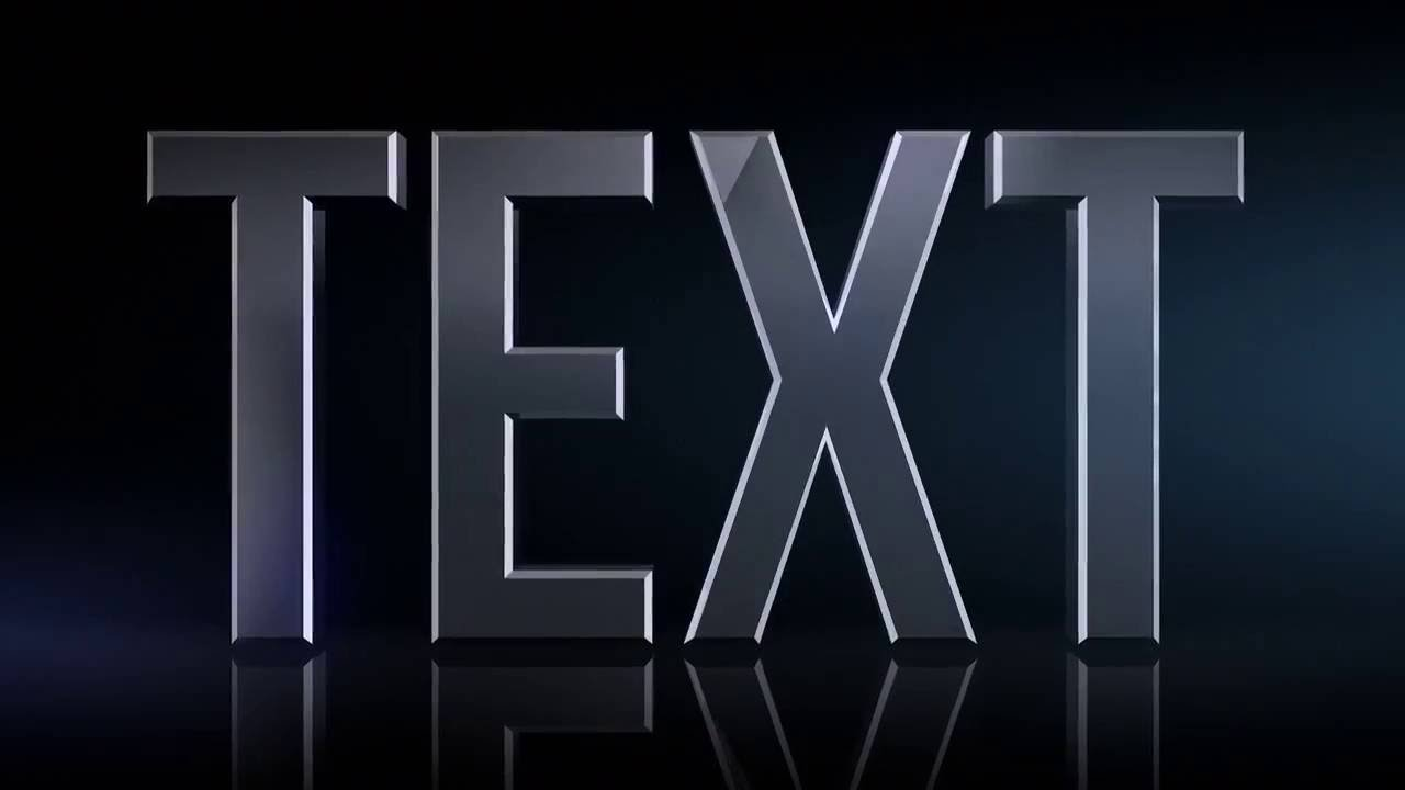 Free 3D Text After Effects Templates - YouTube