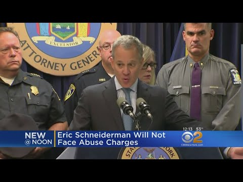 No Charges For Eric Schneiderman