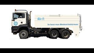 Stehr UBS 16 LKW Bindemittelstreuer mit Tiefladertransport