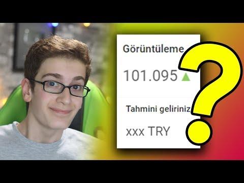 100.000 İZLENMEYE KAÇ TL KAZANDIM? (YOUTUBE PARA KAZANMA)