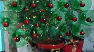 Faça Sua Arvore de Natal com Garrafa PET