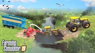 CROSSING THE MUD RIVER   Purbeck Valley Farm Farming Simulator 19 - Episode 31