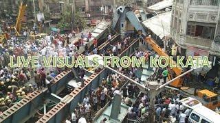 live scenes from kolkata flyover bridge collapse accident   kolkata bridge flyover accident