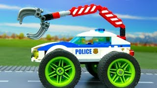 Download Lego Experimental Police Car and Giant Power Wheels | Cars For Kids | Toys for children Mp3 and Videos