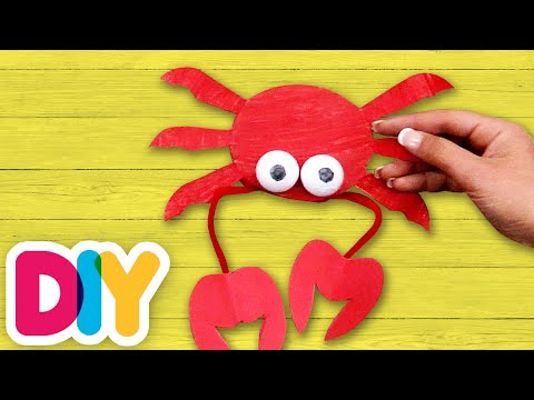 CRAB Paper Plate Craft | Fast-n-Easy | DIY Arts & Crafts for Kids
