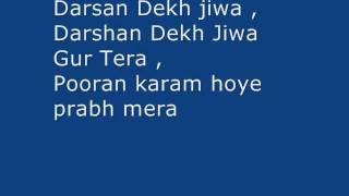 Darshan Dekh Jeewa Gur Tera -my own music -Devotional song -L1M1Mr