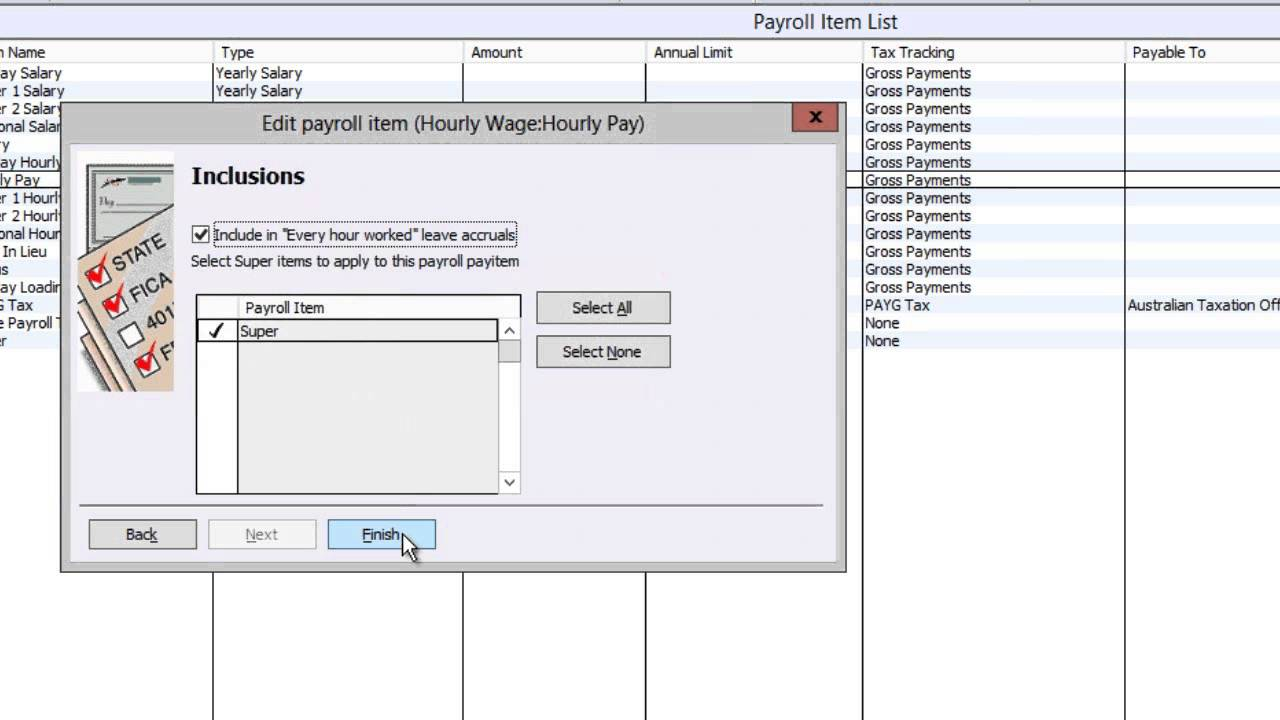 Reckon How-To: Payroll Items