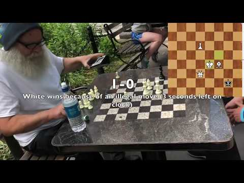 $4 Game against Chess Hustler - Washington Square Park NYC Chess Hustling