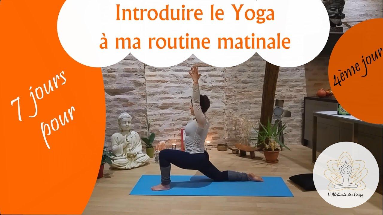 posture yoga matinale