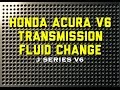 99 - 04 Honda Acura Accord V6 Transmission fluid change - P0740 - Bundys Garage