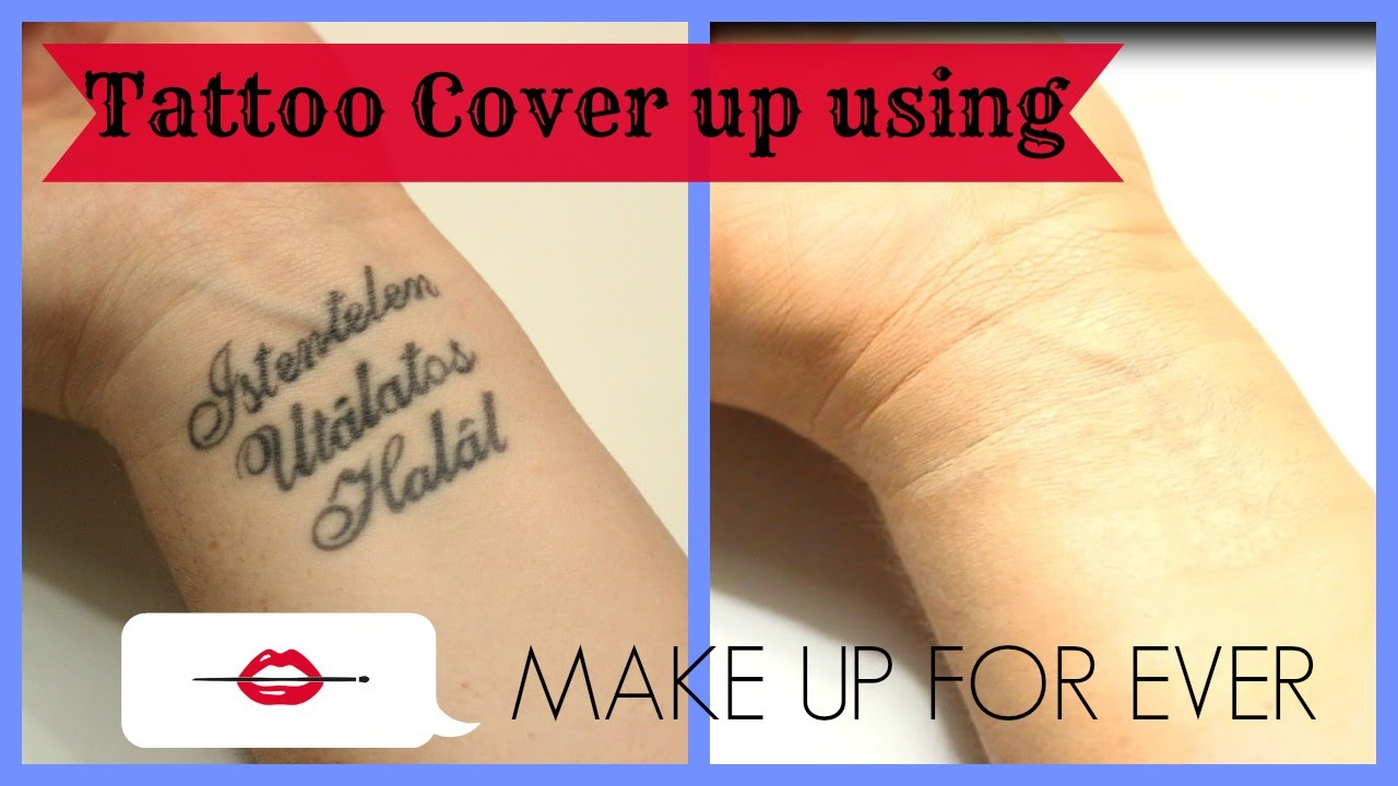 Tattoo Cover Up Using Make Up For Ever Products - YouTube