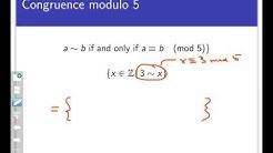 Equivalence classes (Screencast 7.3.1)