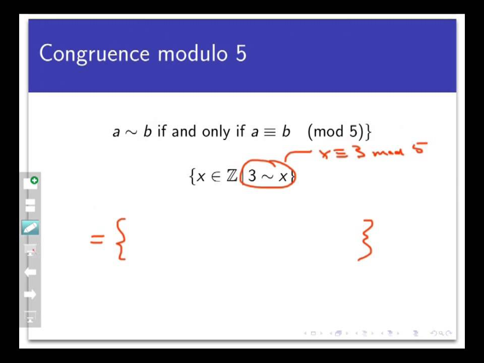 Equivalence classes (Screencast 7 3 1)