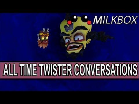 Crash Bandicoot N. Sane Trilogy | All Time Twister Cutscenes/Messages | Warped