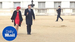 Theresa May adds a splash of scarlet to Horse Guards Parade - Daily Mail