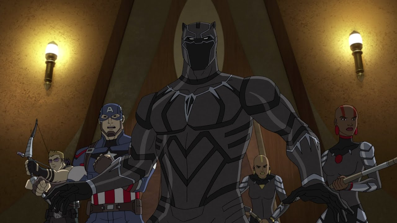 Resultado de imagem para black panther avengers assemble