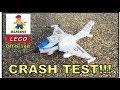 AUSINI JET CRASH TEST!!! | LEGO compatible building brick toy off-brand set