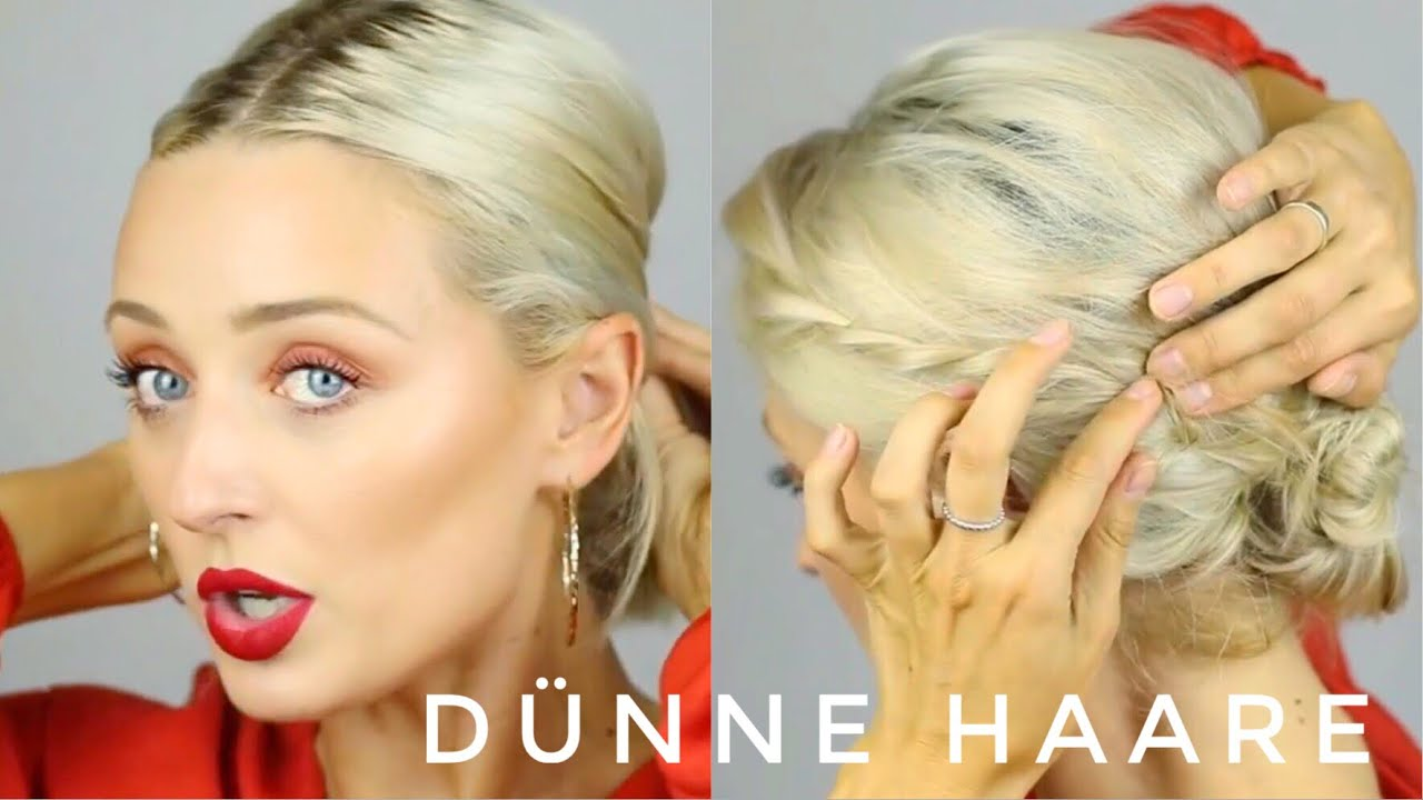Styling mittellanges dunnes haar