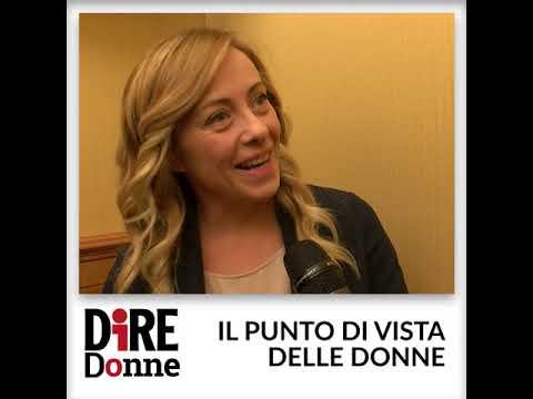 Giorgia Meloni per 'Dire Donne'