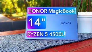 Обзор HONOR MagicBook 14 на AMD RYZEN 5 4500U 2020 года - ЛУЧШИЙ для многих!