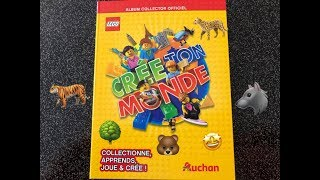 AUCHAN '' KAARTEN LEGO : MAAK UW WERELD COLLECTIBLE .... '' 31 pakketten meer boeken te ontdekken.