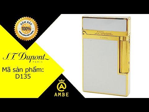 Bật lửa Dupont sơn mài trắng viền vàng D135 – Ambe.vn