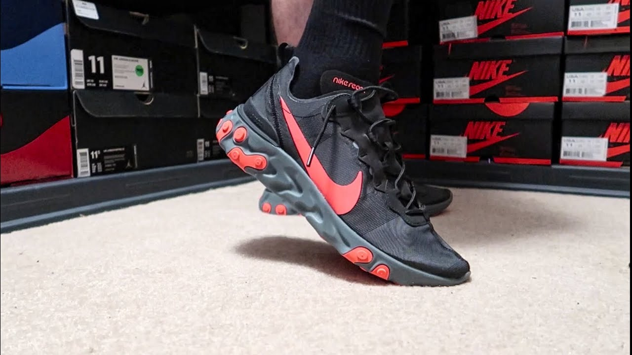 REACT ELEMENT 55 SOLAR RED AND ON FEET